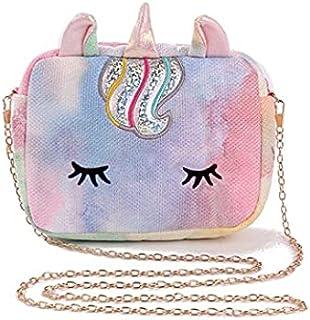 Shopaholic Small Glitter Cute Unicorn Sling Bag Bags for Girls Stylish Bags for Girls & Teenagers (Unicorn Glitter Sling Bag)
