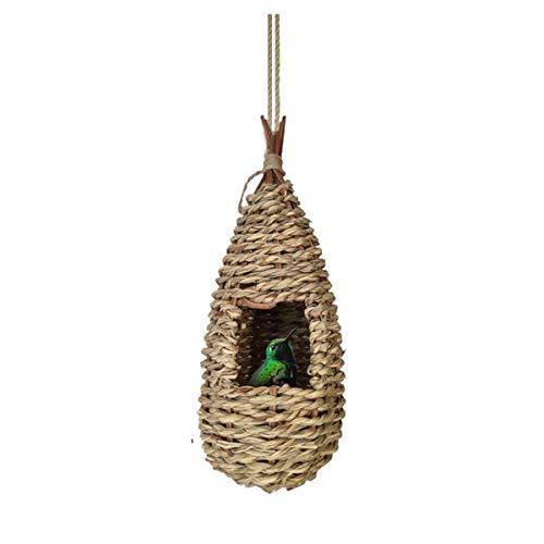 Vogelnes, Nester Vögel Natürliche Gras Vogelnest für Papageien, Mäuse, Hamster, Vogelhaus zum Aufhängen, Vogelhäuschen Hängedeko Gartendeko Nistkasten für Papagei