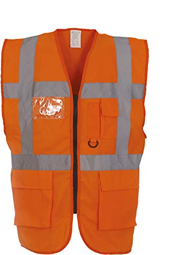 Hi-Vis Sicherheitsweste, Farbe:Hi Vis Orange;Größe:S