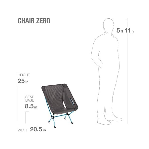Helinox Chair Zero   Ultra lightweight outdoor camping chair - Perfect folding chair for cycling and adventurists…