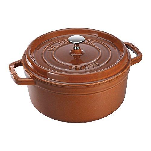 STAUB Cast Iron Round Cocotte, 7-quart, Burnt Orange