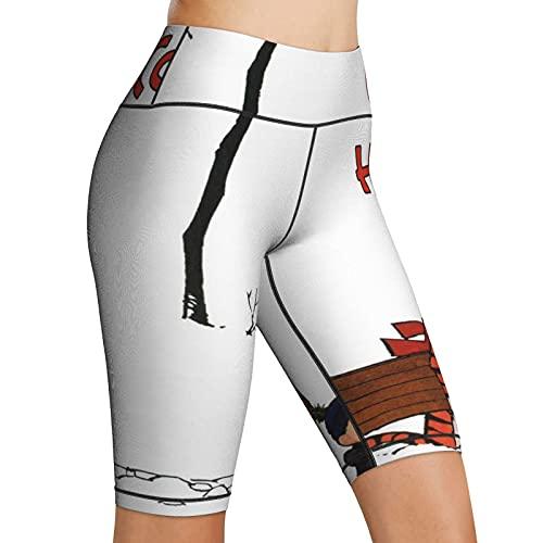 Inaayayi Hohe Taille Yoga-Shorts Damen...