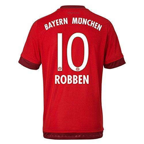 adidas Herren Spieler-Heimtrikot FC Bayern München Replica (Robben 10, Large 42-44