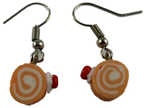 Ausgefallene Ohrringe Ohrhänger Hänger Keks Kuchen Torte Rolle Kaffee Tee Restaurant Bäckerei 7135