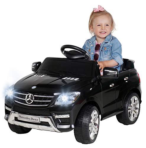 Kinder Elektroauto Mercedes ML 350 Original Lizenz Auto 2X 25 Watt Motor Kinderauto Kinderfahrzeug Elektroauto (Schwarz)*
