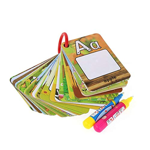 ThinIce 26Pcs Infant Alphabets Numbers Painting Board Pen Drawing Card Educational Toys Darts