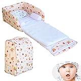 WDXIN Lit Bébé Pliant Réglable Berceau Portable Multifonction Lit au lit Envoyer Un Oreiller en Fibre de Bambou Convient pour bébé 0-12 Mois,A