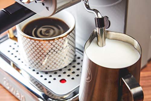 Swan Retro Pump Espresso Coffee Machine, Grey, 15 Bars of Pressure, Milk Frother, 1.2L Tank, SK22110GRN