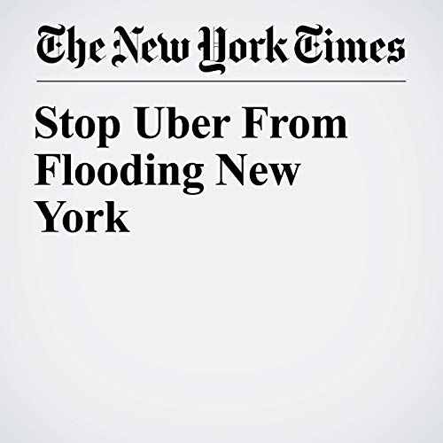 Stop Uber From Flooding New York copertina