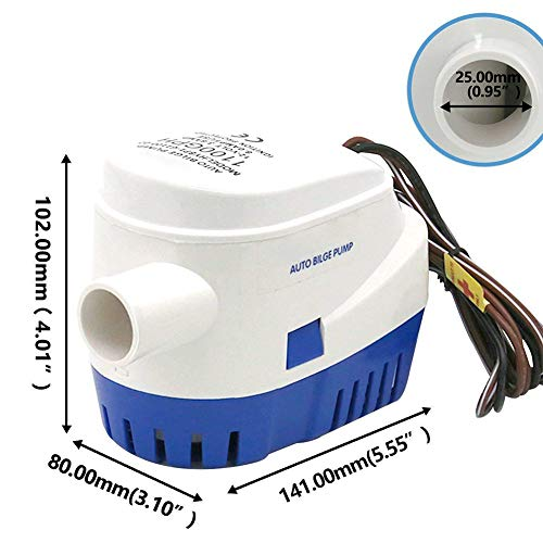 Matedepreso Fishing Yacht Fully Automatic Submersible Boat Bilge Pump with Float Switch