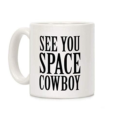 N\A See You Space Cowboy White 11 onzas de cerámica otoño Negro Divertido papá Calabaza el Mejor patrón de Amor Feliz Abuelo Brujas Tono café Azul Hola Especia