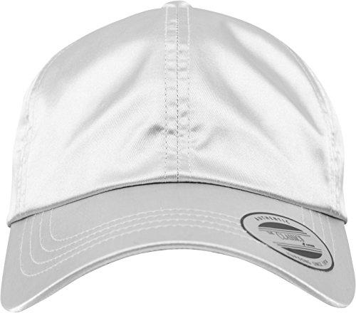 Flex fit Low Profile Satin Cap Silver One Size Casquette Unisex-Adult
