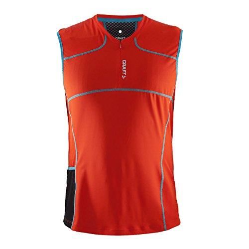Craft T-shirt Trail Maillot sans manches - Rouge (Rouge - Gris) - X-Large
