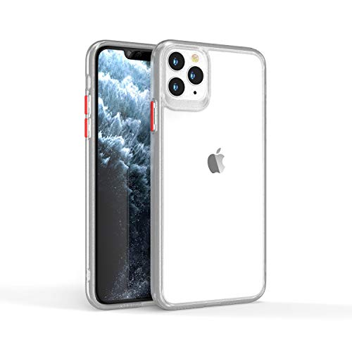 GOBY Coque iPhone 11 Case TPU Antichoc Housse Etui Transparent Integrale Bumper Simple Case Transparent Rigide Protection pour iPhone 11 (blanc)