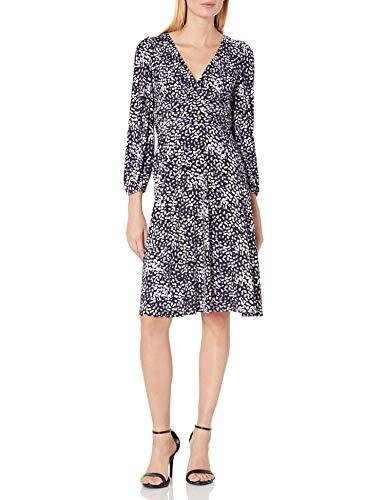 Eliza J Women's Long Sleeve Surplice Jersey Midi Dress Casual, Plum, 14