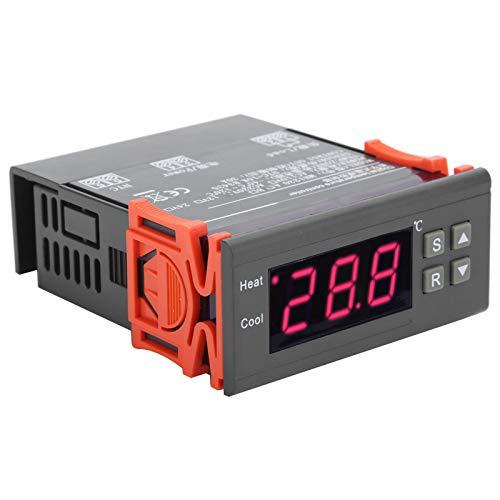 DAUERHAFT Termostato Digital Controlador de Temperatura Resistente al Desgaste Larga Vida útil, para calefacción por Suelo Radiante AC, para Grandes Granjas de cría