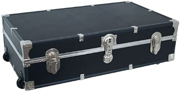 Under The Bed Storage Trunk With Wheels Black