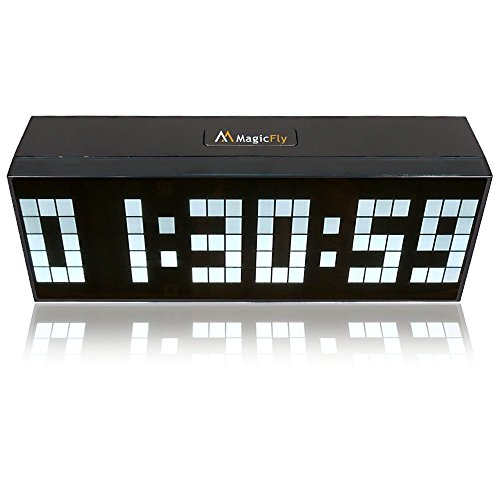Magicfly Digital Large Big Jumbo LED Snooze Wall Desk Alarm with Calendar Light Clock, Four Colors Available! (White)