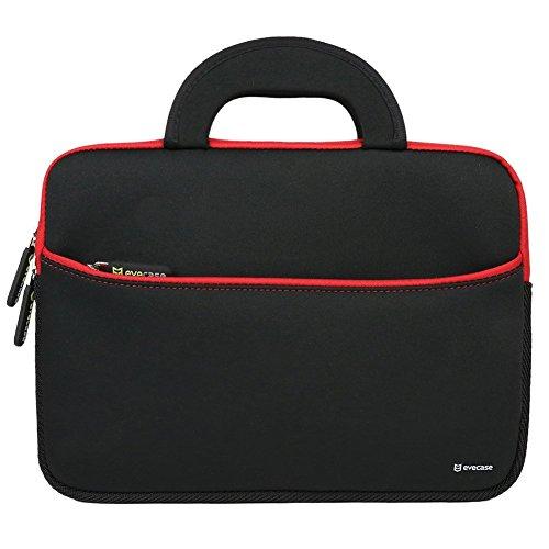 evecase 11,6 Zoll Laptophülle, Universal Neopren Tasche Notebooktasche Hülle mit Griff für MacBook Air, Laptop, Chromebook, Ultrabook - Schwarz