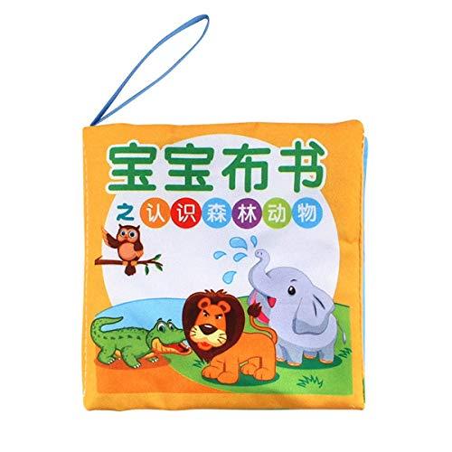 Greatangle Libro de Tela Suave con Estampado de Dibujos Animados Coloridos educativos tempranos para niños y bebés, Libro de Lectura en inglés, Juguetes para bebés, Juguete antidesgarro