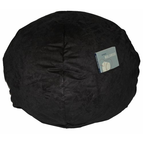 Fun Furnishings Large Beanbag, Black Micro Suede