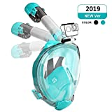 Full Face Snorkel Mask,DasMeer Seaview 180 Foldable Easy Breathing Mask with Detachable Camera