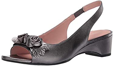 Taryn Rose Women's Slingback Heeled Sandal, Gunmetal, 7