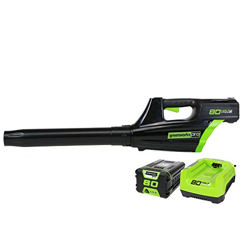Greenworks Pro 80V Cordless Brushless Axial Blower, 2.0Ah Battery and...
