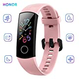 HONOR Band 5 Bracelet Intelligent 0,95'Grand Full Color AMOLED Affichage Fitness Surveillance Intelligente 5ATM Montre Smart Watch Imperméable À l'eau (Rose)