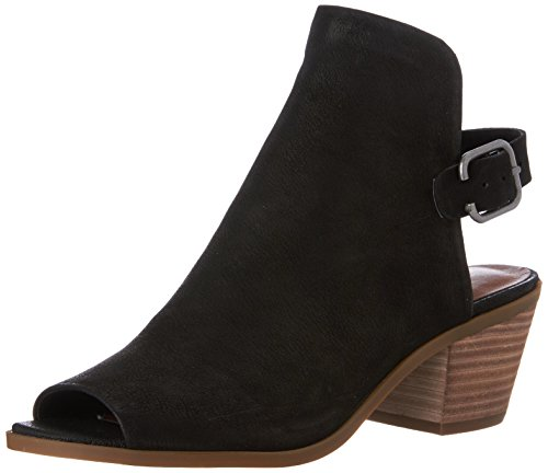 Lucky Brand Womens Bray Open Toe Ankle Fashion Boots, Black, Size 5.5