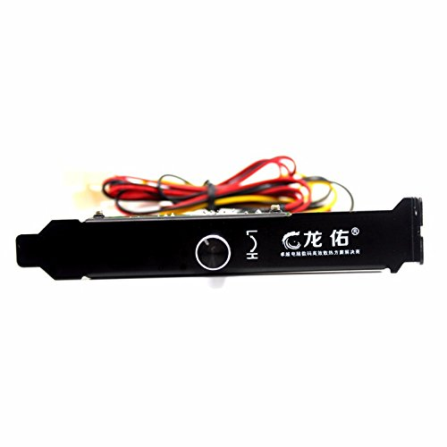 JXSZ 3 Channels 3-pin PC Cooler Cooling Fan Speed Controller PCI Bracket 12V Molex