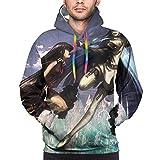Anime Akame ga Kill Esdeath Hoodie Men's Sweatshirt Outdoor leisure sports 3D printing Black