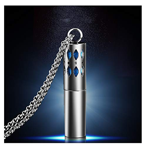 N·XHXL Mode Kreative Parfüm-Flasche Halskette Für Männer Frauen, 316 Titan Stahl Trend Schmuck Mit Kette 23,62/27,6 Inch, Best Holiday Geschenk Für Ihn,27.6inch