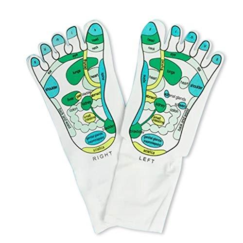 Taloit Kit de masaje de reflexología, herramienta masajeador de pies, calcetines de reflexología, calcetines de reflexología de acupresión