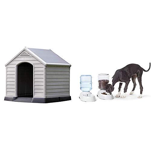 CURVER Caseta de Perro para jardín, Color Topo/Beige, 95 x
