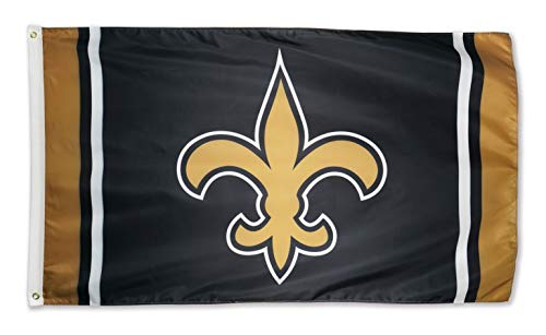 XIFAN Polyester Flag for New Orleans Saints Team Brass Grommets Football Sports Banner 3 X 5 FT