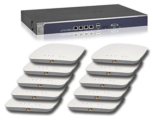 Netgear WB7630-10000S Bundle (1x WC7600 Controller, 10x WAC730 Access Points und 10x AP Verwaltungs Lizenz WC10APL) schwarz