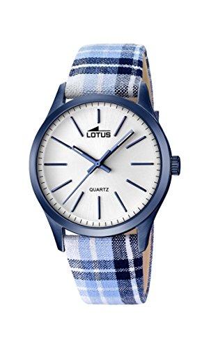 Lotus Reloj Analógico para Hombre de Cuarzo con Correa en Tela 18348_1