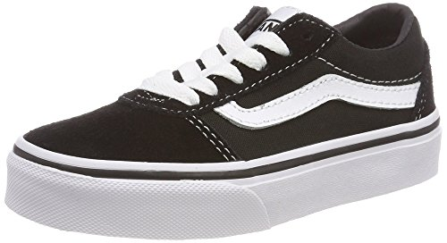 Vans Ward Suede/Canvas Zapatillas, Unisex Niños, Black/White Iju, 35 EU