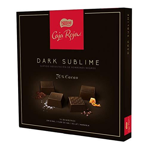 Nestlé Caja Roja Dark Sublime Estuche de Bombones, 114g