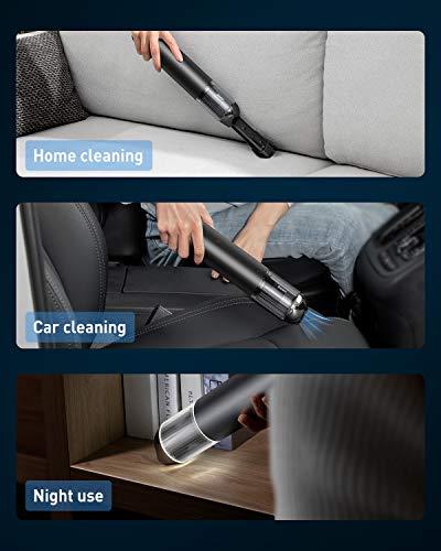 Baseus Handheld Vacuum Cordless, Car Vacuum 15000Pa 135W Mini Portable Vacuum Cleaner USB Charging for Pet Hair/Home/Office/Car Cleaning