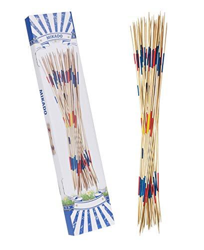 Mikado géant en version XXL – 31 barres de 90 cm de longueur – Jeu de micros en bois pour enfants pour l'intérieur et l'extérieur
