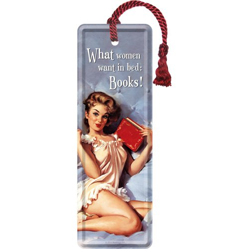 Nostalgic-Art 45013 Say it 50's - What Women Want in Bed, bladwijzers 5x15 cm