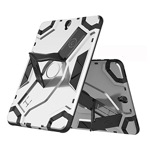 Galaxy Tab S3 9.7 Inch Case for Model SM-T820/SM-T825 (Does Not Fit Galaxy Tab S2 9.7), PC + TPU 2-in-1 360° Shockproof Anti-scratch Cover Shell Skin/Tough Armor/Handle/Kickstand-Silver