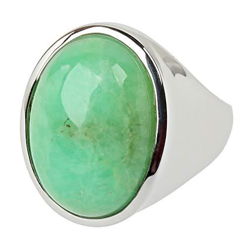 Sogni d'oro Silberzeit Damen Ring aus 925 Silber mit Chrysopras 50 (15.9)
