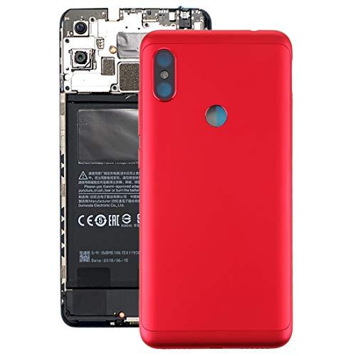 Tangyongjiao Accesorios para Celular Tapa Trasera de batería con Teclas Laterales for Xiaomi Redmi Note 6 Pro (Color : Red)
