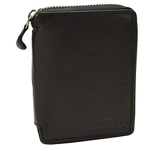 flevado Geldbörse mit Rundum Reissverschluss Unisex Brieftasche Hochformat mit RFID Schutz