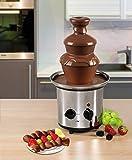 Edelstahl Schokoladen-Brunnen Schoko-Brunnen Fontäne Elektrisch Käse Frucht-Soße Barbecue-Soße (Sparsame 170 Watt, 500 g Schokolade, 750 g Kuvertüre) - 4