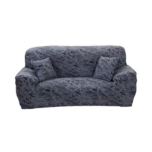 MagiDeal 4 Größen Elastische Stretch Sofabezüge Sofahusse Couch Sofa Husse, Weich und Beque für 1er-/2er-/3er Sofa - Dunkelgrau, 3-Sitzer 190-230cm