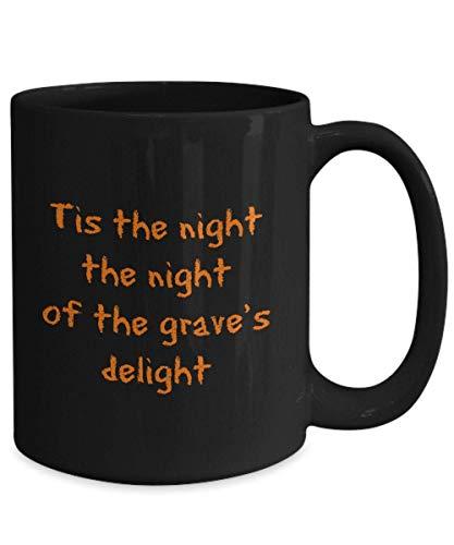 N\A Regalo de Miedo Taza de caf Bruja Espeluznante Fantasma de Halloween embrujado Tratar Boo Trick Disfraz de Calabaza